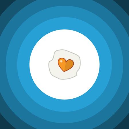 Isolated Fried Egg Flat Icon
