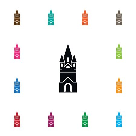 house of god: Isolated Faith Icon Illustration