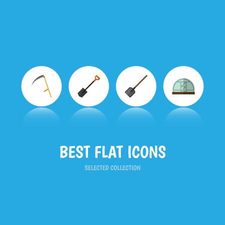 Set of farming icons Illustration