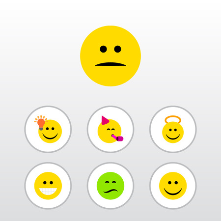 Set of different smiley icons