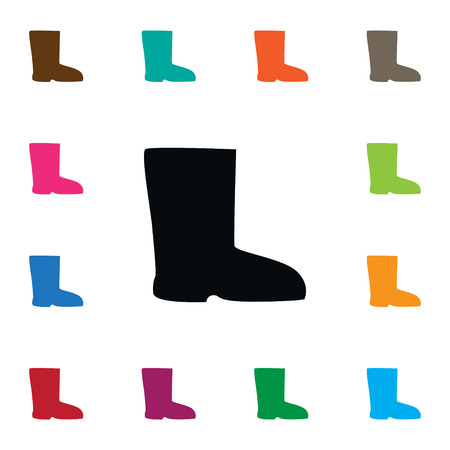 Isolated boots vector icons Illustration