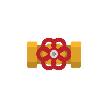 Isolated Flange Flat Icon
