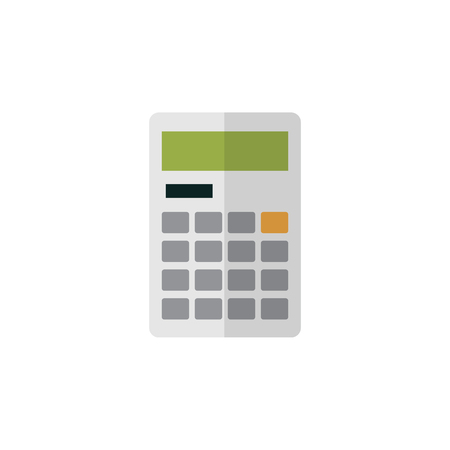 Isolated Calculator Flat Icon. Calculate Vector Element Can Be Used For Calculator, Calculate, Finance Design Concept. Иллюстрация
