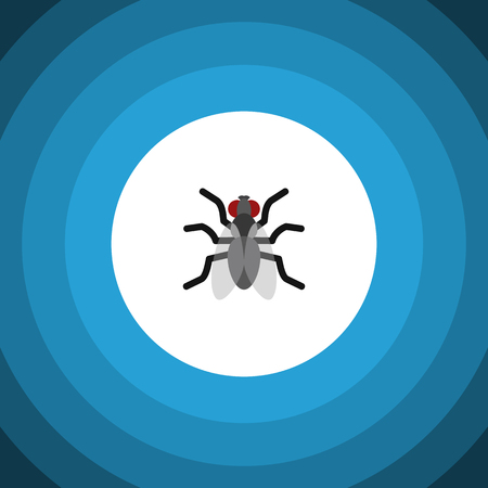 Isolated Mosquito Flat Icon