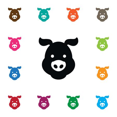 Isolated Swine Icon