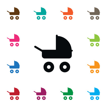 Isolated Stroller Icon. Transportation Vector Element Can Be Used For Baby, Stroller, Transportation Design Concept.