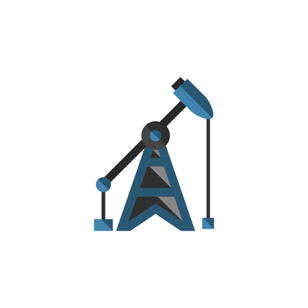 Isolated Oil Pump Flat Icon. Rig Vector Element Can Be Used For Oil, Pump, Rig Design Concept. Illustration
