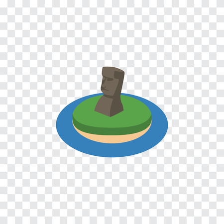 Isolated MoAI Isometric. Chile  Vector Element Can Be Used For MoAI, Chile, Monument Design Concept.