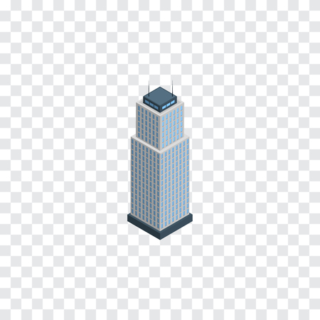 metropolitan: Isolated Apartment Isometric. Tower Vector Element Can Be Used For Apartment, Tower, Cityscape Design Concept. Illustration