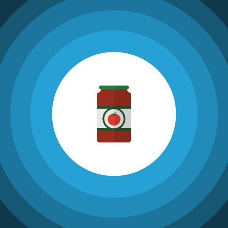 Isolated Tomato Sauce Flat Icon. Ketchup Vector Element Can Be Used For Tomato, Sauce, Ketchup Design Concept.
