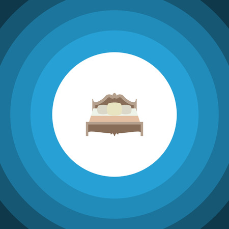 Isolated Mattress Flat Icon. Bedroom Vector Element Can Be Used For Mattress, Bed, Bedroom Design Concept. Illustration