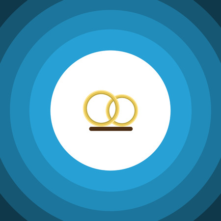 Isolated Engagement Flat Icon. Ring Vector Element Can Be Used For Ring, Wedding, Engagement Design Concept.