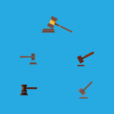 Flat Icon Lawyer Set Of Justice, Court, Tribunal And Other Vector Objects. Also Includes Court, Tribunal, Crime Elements.