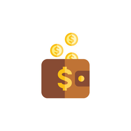 billfold: Isolated Pouch Flat Icon. Payment Vector Element Can Be Used For Pouch, Payment, Money Design Concept.