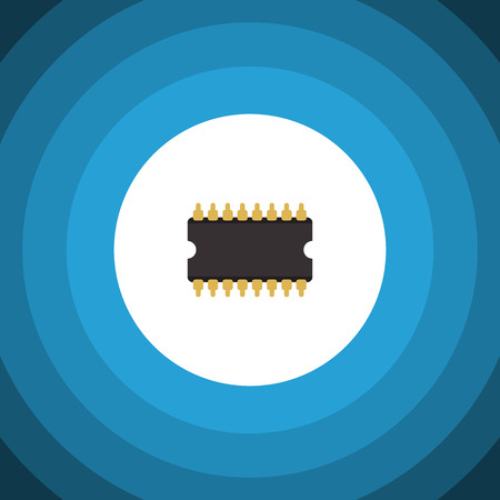 Isolated Cpu Flat Icon. Microprocessor Vector Element Can Be Used For Central, Processor, Unit Design Concept. Illustration