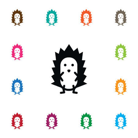 Isolated Spiny Icon. Prickly Vector Element Can Be Used For Spiny, Prickly, Hedgehog Design Concept.