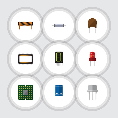 recipient: Flat Icon Electronics Set Of Unit, Display, Recipient And Other Vector Objects. Also Includes Fiildistor, Calculate, Bobbin Elements.