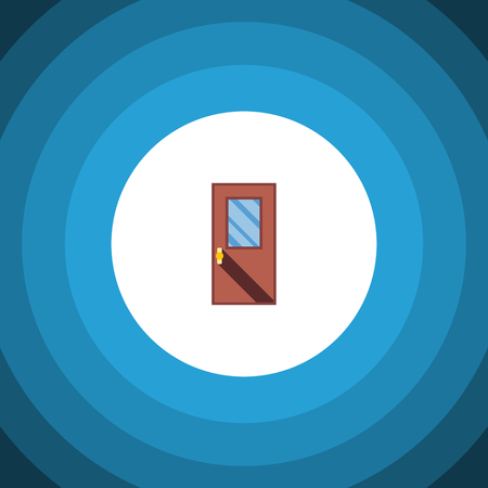 doorknob: Isolated Entrance Flat Icon. Door Vector Element Can Be Used For Door, Entrance, Exit Design Concept.