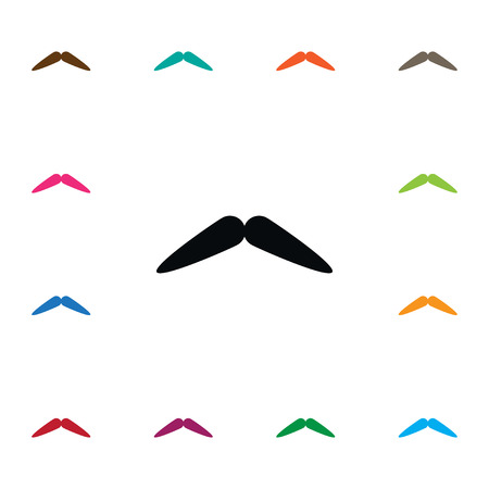 Isolated Barber Icon. Moustache Vector Element Can Be Used For Moustache, Barber, Whiskers Design Concept.