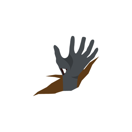 Isolated Corpse Hand Flat Icon. Zombie Vector Element Can Be Used For Zombie, Corpse, Hand Design Concept. Illustration