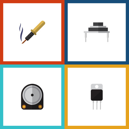 Flat Icon Electronics Set Of Destination, Repair, Receiver And Other Vector Objects. Also Includes Hdd, Transistor, Receiver Elements.