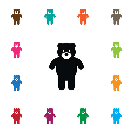 huggable: Isolated Bear Icon. Plush Vector Element Can Be Used For Plush, Cuddly, Bear Design Concept. Illustration