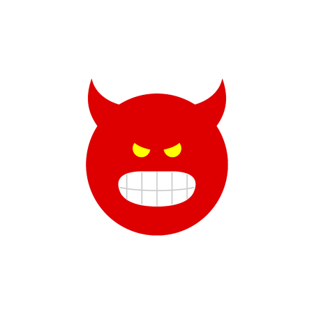 indignant: Isolated Angry Flat Icon. Pouting Vector Element Can Be Used For Pouting, Angry, Smile Design Concept.