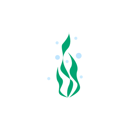 Seaweed Vector Element Can Be Used For Seaweed, Water, Plant Design Concept.  Isolated Water Plant Flat Icon. Stock Vector - 83703879