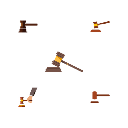 Flat Icon Court Set Of Court, Government Building, Crime And Other Vector Objects Imagens - 83780798