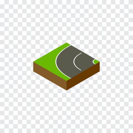 Way Vector Element Can Be Used For Asphalt, Road, Bitumen Design Concept.  Isolated Bitumen Isometric. Illustration