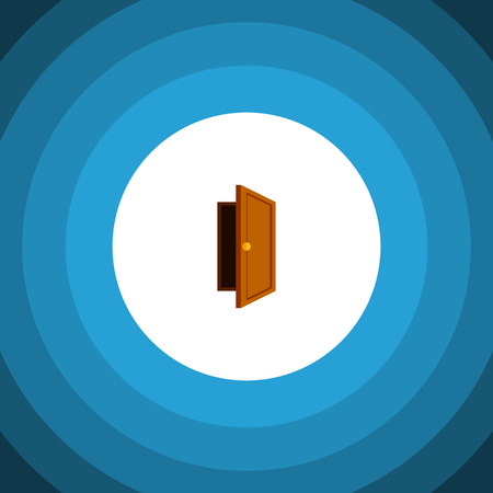 doorknob: Entry Vector Element Can Be Used For Entry, Exit, Approach Design Concept.  Isolated Exit Flat Icon.