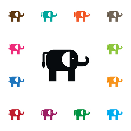 Indian Elephant Vector Element Can Be Used For Indian, Elephant, Trunked Design Concept.  Isolated Trunked Animal Icon.