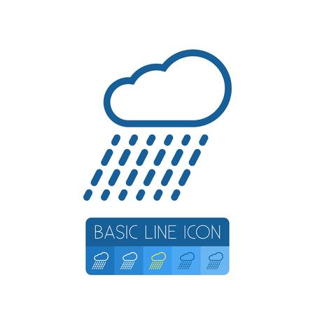 rainy season: Cloud Vector Element Can Be Used For Rain, Rainy, Cloud Design Concept.  Isolated Rain Outline.