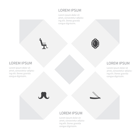 hairdresser: Icon Fashion Set Of Sharp, Wealthy, Elbow Chair And Other Vector Objects