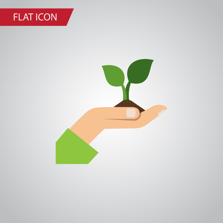 Care Vector Element Can Be Used For Plant, Care, Hand Design Concept.  Isolated Plant Flat Icon. Illustration