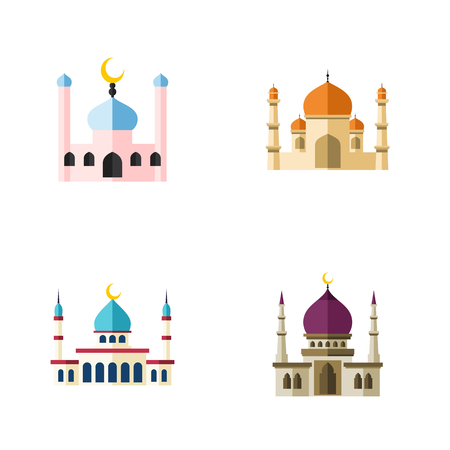 violet red: Flat Icon Mosque Set Of Islam, Religion, Muslim And Other Vector Objects