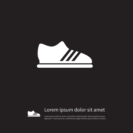 snickers: Snickers Vector Element Can Be Used For Snickers, Footwear, Gumshoes Design Concept.  Isolated Running Icon. Illustration