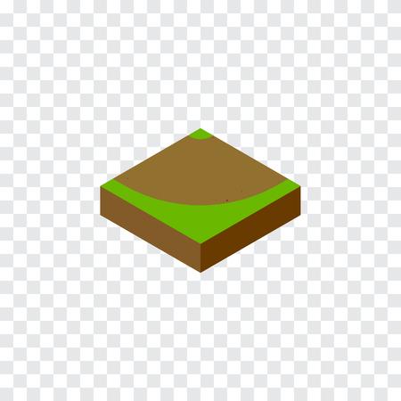 ターン、砂、道路設計概念の回転ベクトル要素を使用できます。 分離された砂等尺性。  イラスト・ベクター素材