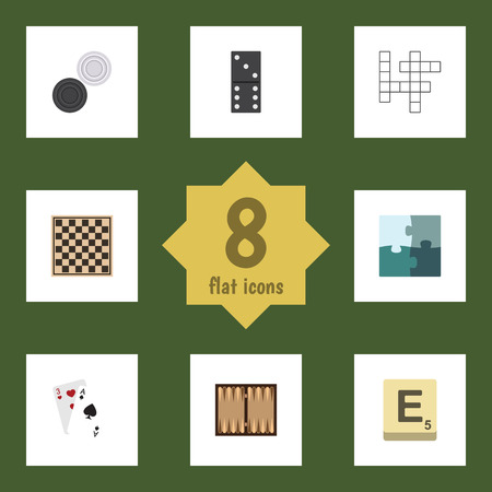 Flat Icon Play Set Of Guess, Dice, Ace And Other Vector Objects