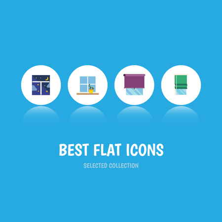veranda: Flat Icon Glass Set Of Frame, Glazing, Balcony And Other Vector Objects Illustration
