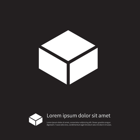 case: Package Vector Element Can Be Used For Package, Carton, Parcel Design Concept.  Isolated Parcel Icon.