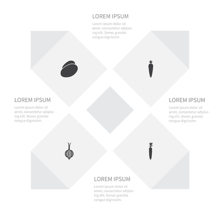 Icon Vegetables Set Of Vitamin, Tuber, Organic And Other Vector Objects