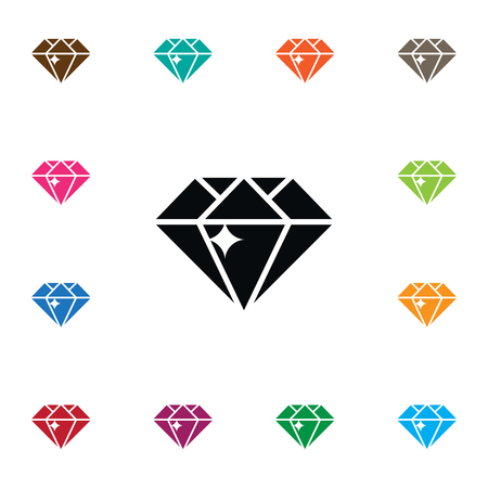 Isolated Treasure Icon. Gemstone Vector Element Can Be Used For Treasure, Diamond, Gemstone Design Concept.