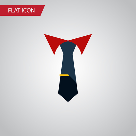 Isolated Collar Flat Icon. Tailoring Vector Element Can Be Used For Cravat, Tailoring, Collar Design Concept.