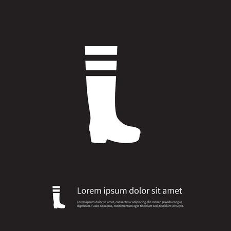 gumboots: Gumboots Vector Element Can Be Used For Rubber, Footwear, Gumboots Design Concept.  Isolated Footwear Icon. Illustration