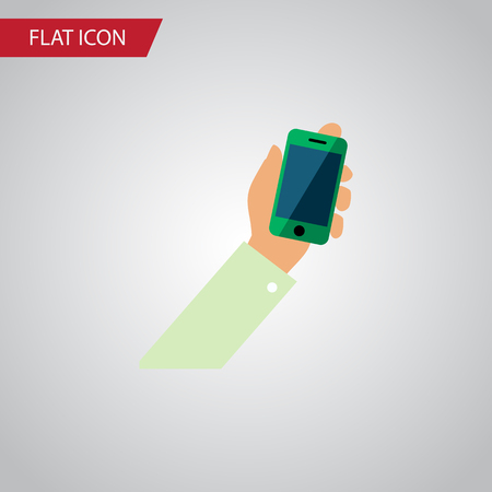 touch screen phone: Keep phone icon concept. Illustration