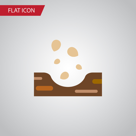Isolated Soil Flat Icon. Seed Vector Element Can Be Used For Seed, Soil, Sow Design Concept.