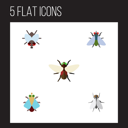Flat Icon Buzz Set Of Buzz, Fly, Bluebottle And Other Vector Objects. Also Includes Buzz, Insect, Housefly Elements.