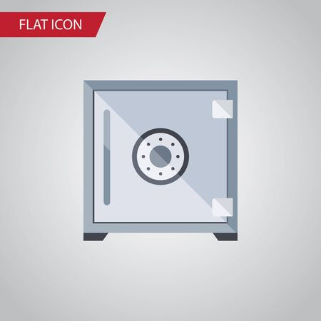 heavy: Isolated Protection Flat Icon. Strongbox Vector Element Can Be Used For Strongbox, Safe, Protection Design Concept. Stock Photo