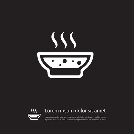 Isolated Broth Icon. Soup Vector Element Can Be Used For Broth, Soup, Hot Design Concept. Иллюстрация